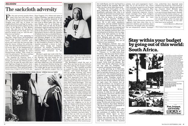 Article Preview: The sackcloth adversity, September 1982 | Maclean's