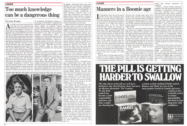 Article Preview: Manners in a Boomie age, September 1982 | Maclean's