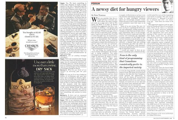 Article Preview: A newsy diet for hungry viewers, September 1982 | Maclean's
