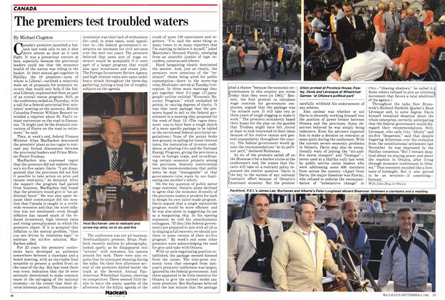 Article Preview: The premiers test troubled waters, September 1982 | Maclean's