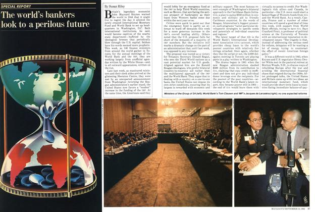 Article Preview: The world's bankers look to a perilous future, September 1982 | Maclean's