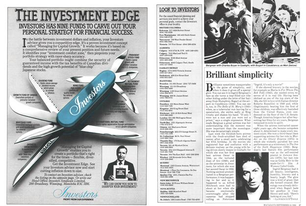 Article Preview: Brilliant simplicity, September 1982 | Maclean's