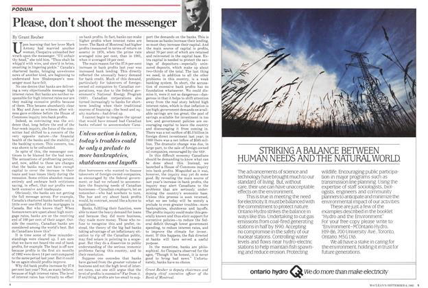 Article Preview: Please, don't shoot the messenger, September 1982 | Maclean's