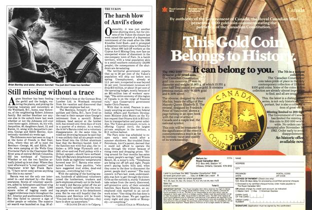 Article Preview: Still missing without a trace, September 1982 | Maclean's