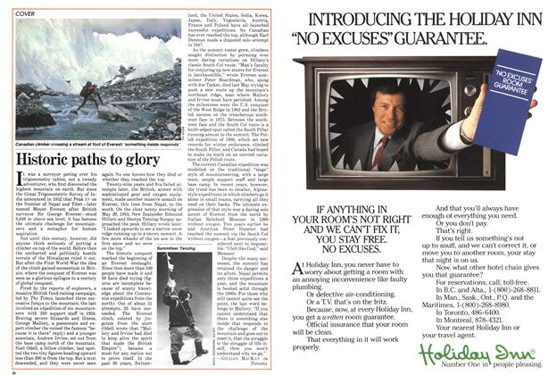 Article Preview: Historic paths to glory, September 1982 | Maclean's