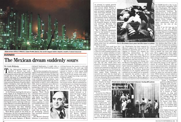 Article Preview: The Mexican dream suddenly sours, September 1982 | Maclean's