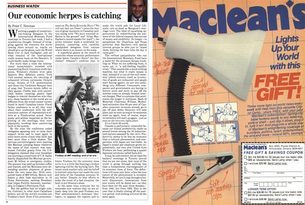 Article Preview: Our economic herpes is catching, September 1982 | Maclean's