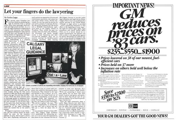 Article Preview: Let your fingers do the lawyering, September 1982 | Maclean's