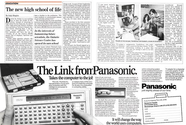 Article Preview: The new high school of life, September 1982 | Maclean's