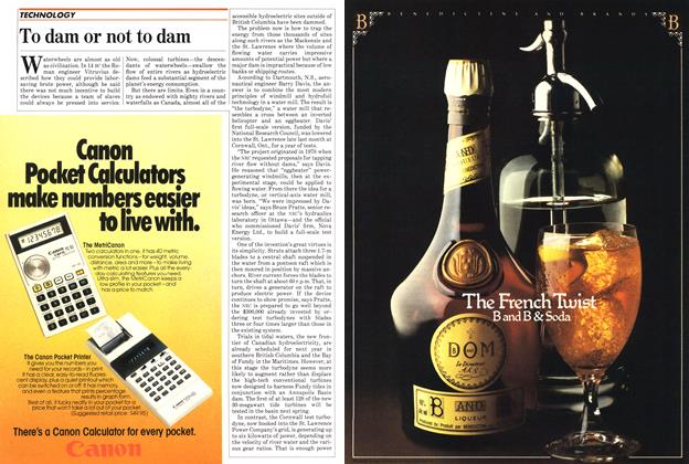 Article Preview: To dam or not to dam, September 1982   Maclean's