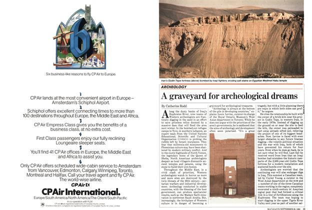 Article Preview: A graveyard for archeological dreams, September 1982 | Maclean's