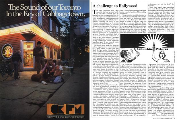 Article Preview: A challenge to Hollywood, September 1982 | Maclean's