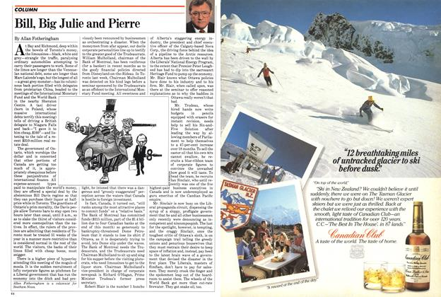 Article Preview: Bill, Big Julie and Pierre, September 1982 | Maclean's