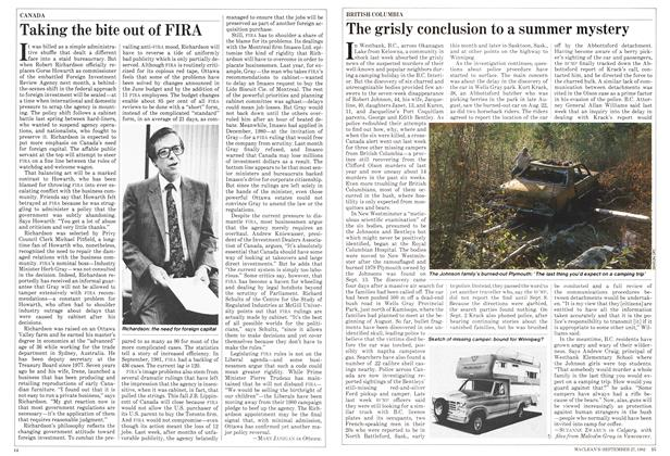 Article Preview: Taking the bite out of FIRA, September 1982 | Maclean's
