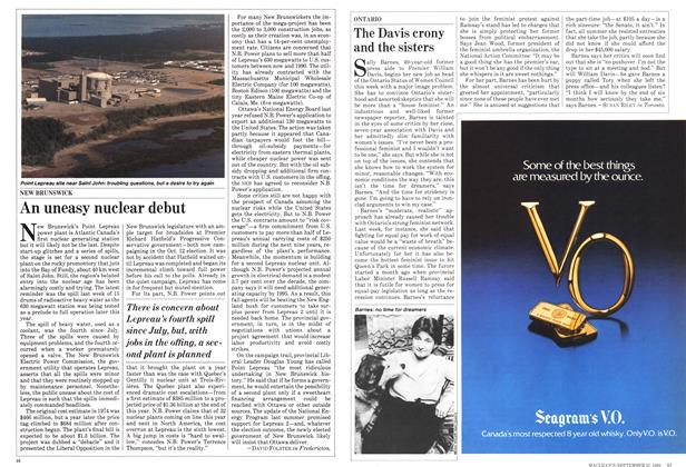 Article Preview: An uneasy nuclear debut, September 1982 | Maclean's