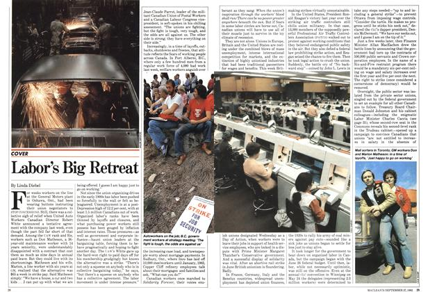 Article Preview: Labor's Big Retreat, September 1982 | Maclean's