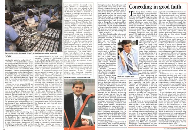 Article Preview: Conceding in good faith, September 1982   Maclean's