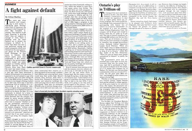 Article Preview: Ontario's play in Trillium oil, September 1982 | Maclean's