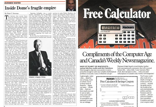 Article Preview: Inside Dome's fragile empire, September 1982 | Maclean's