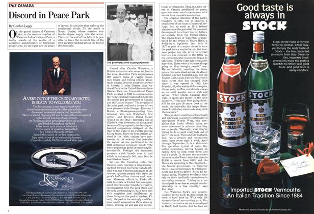 Article Preview: Discord in Peace Park, September 1982 | Maclean's