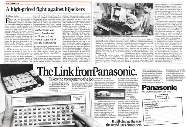 Article Preview: A high-priced fight against hijackers, September 1982 | Maclean's