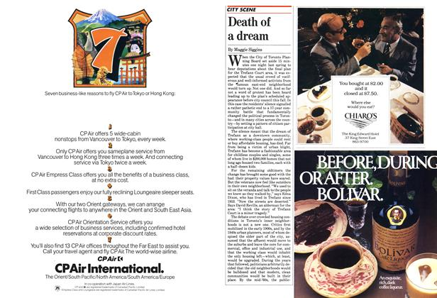 Article Preview: Death of a dream, October 1982 | Maclean's