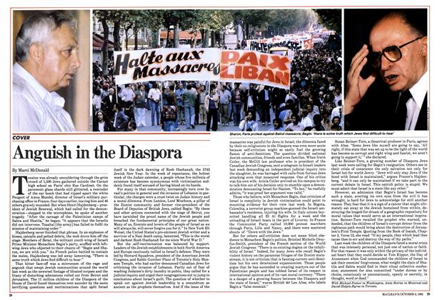 Article Preview: Anguish in the Diaspora, October 1982 | Maclean's