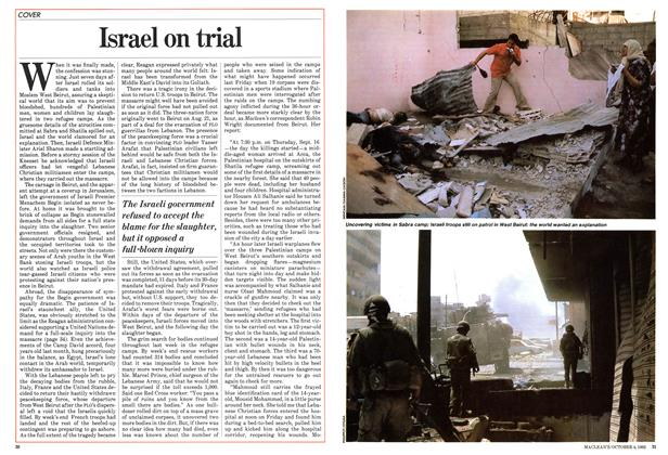 Article Preview: Israel on trial, October 1982 | Maclean's
