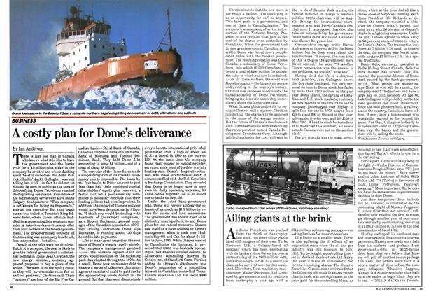 Article Preview: A costly plan for Dome's deliverance, October 1982 | Maclean's