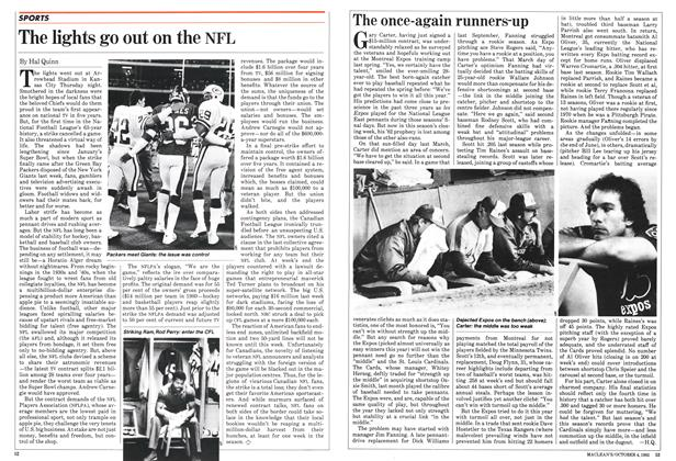 Article Preview: The lights go out on the NFL, October 1982 | Maclean's