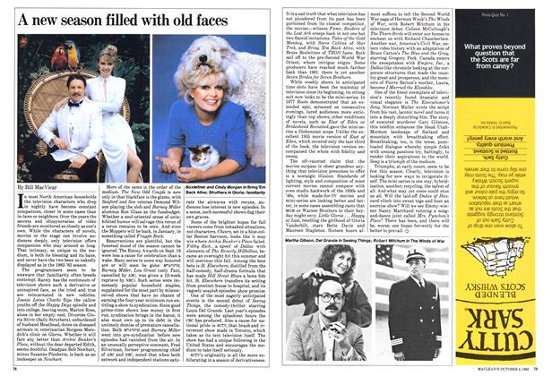 Article Preview: A new season filled with old faces, October 1982 | Maclean's