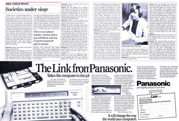 Article Preview: Societies under siege, October 1982 | Maclean's