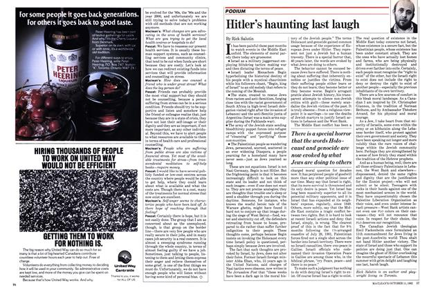 Article Preview: Hitler's haunting last laugh, October 1982 | Maclean's