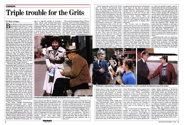 Article Preview: Triple trouble for the Grits, October 1982 | Maclean's