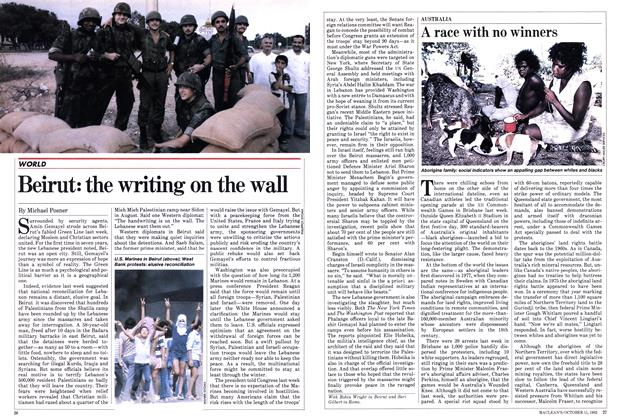 Article Preview: Beirut: the writing on the wall, October 1982 | Maclean's