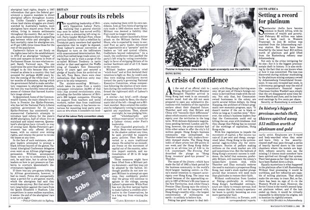 Article Preview: Labour routs its rebels, October 1982 | Maclean's