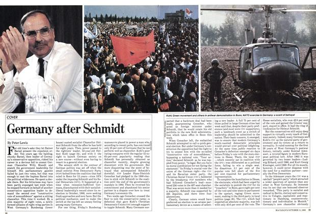 Article Preview: Germany after Schmidt, October 1982 | Maclean's
