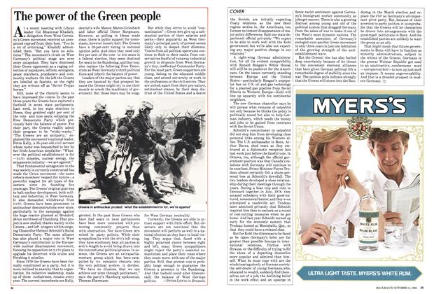 Article Preview: The power of the Green people, October 1982 | Maclean's