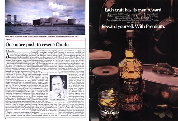 Article Preview: One more push to rescue Candu, October 1982 | Maclean's