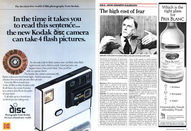 Article Preview: The high cost of fear, October 1982 | Maclean's