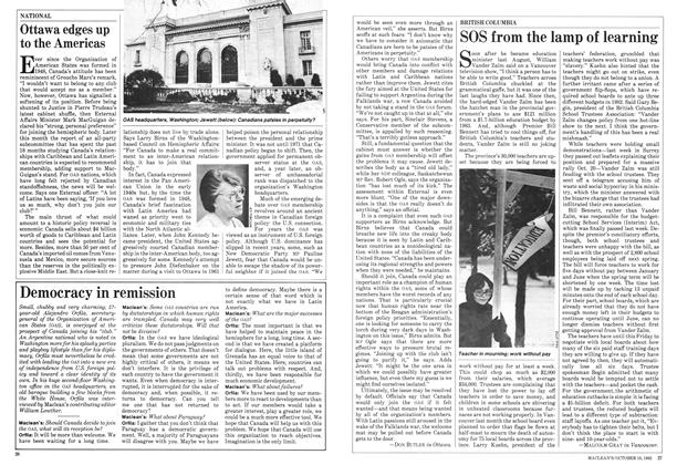Article Preview: SOS from the lamp of learning, October 1982 | Maclean's