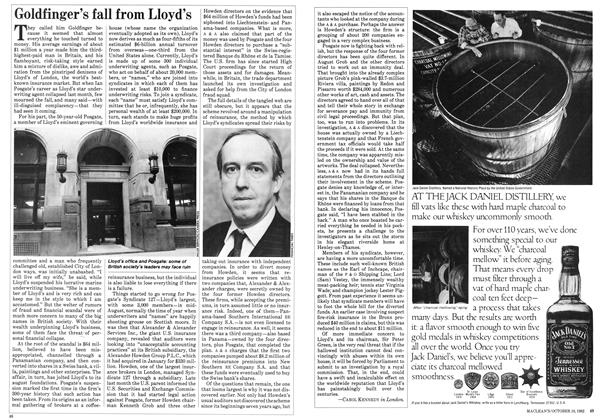 Article Preview: Goldfinger's fall from Lloyd's, October 1982 | Maclean's
