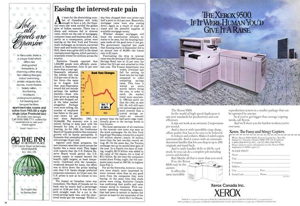 Article Preview: Easing the interest-rate pain, October 1982 | Maclean's