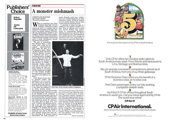 Article Preview: A monster mishmash, October 1982 | Maclean's