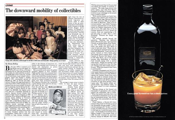 Article Preview: The downward mobility of collectibles, October 1982 | Maclean's