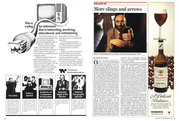Article Preview: More slings and arrows, October 1982 | Maclean's