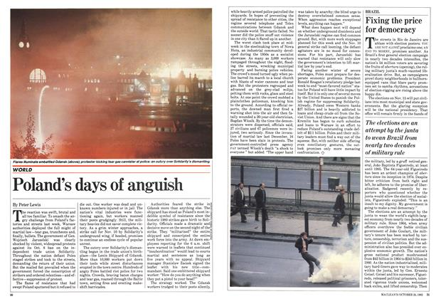 Article Preview: Poland's days of anguish, October 1982 | Maclean's