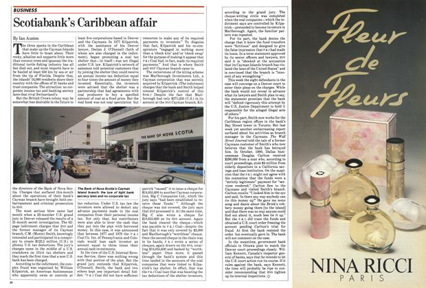Article Preview: Scotiabank's Caribbean affair, October 1982 | Maclean's