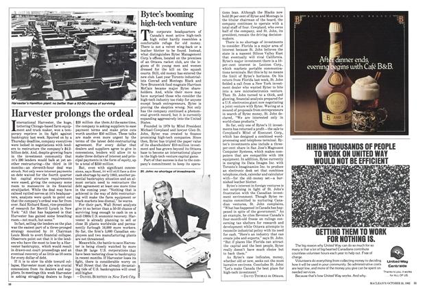 Article Preview: Harvester prolongs the ordeal, October 1982 | Maclean's