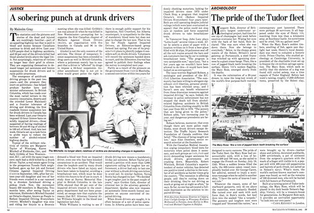Article Preview: A sobering punch at drunk drivers, October 1982 | Maclean's